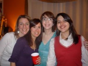 Fanny, Adamira, Diane e eu