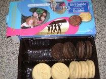 Biscoitos de escoteiras