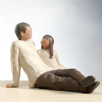Foto: Escultura da artista Susan Lordi, da marca Willow Tree.